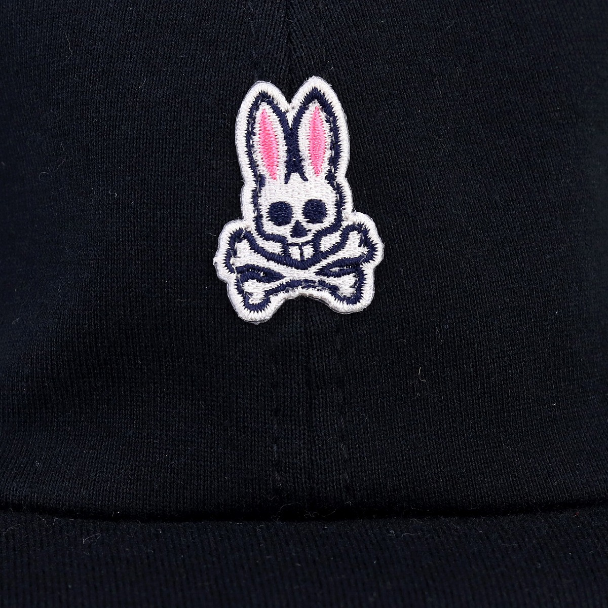 The baseball cap that the Psycho Bunny hat men rabbit scull CAP Lady\'s mini  logo black black PsychoBunny cotton 100% sweat shirt material soft feel.
