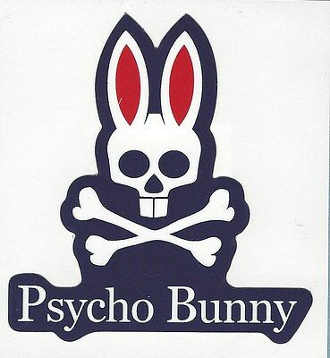 NEW AUTHENTIC PSYCHO Bunny Logo Sticker Decal Free Shipping.