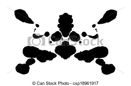 Clipart of Rorschach test.