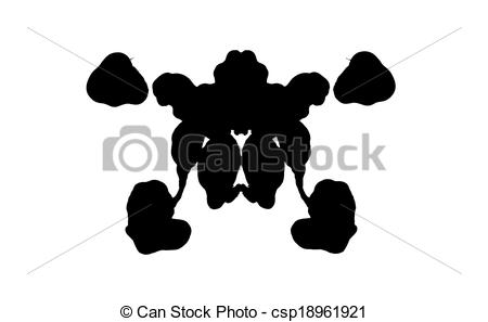 Clip Art of Rorschach test.