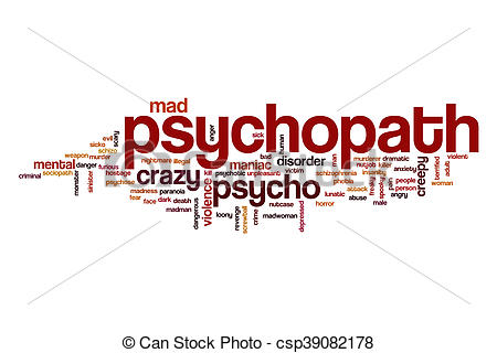 Picture of Psychopath word cloud concept.