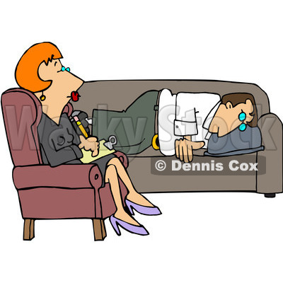 Psychotherapy clip art.