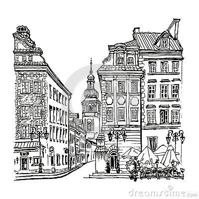 Beautiful Castle Pszczyna Poland Stock Illustrations.