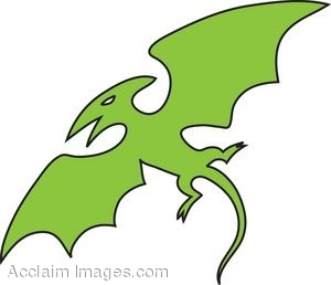 Shape of a Pterodactyl Clip Art.