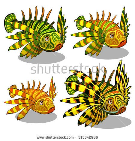 Pterois Stock Images, Royalty.