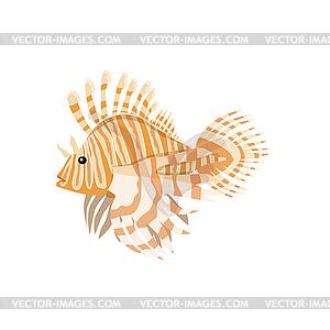 Tropical Fish Lionfish Pterois Volitans.