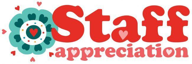 Staff Appreciation clip art from PTO Today..