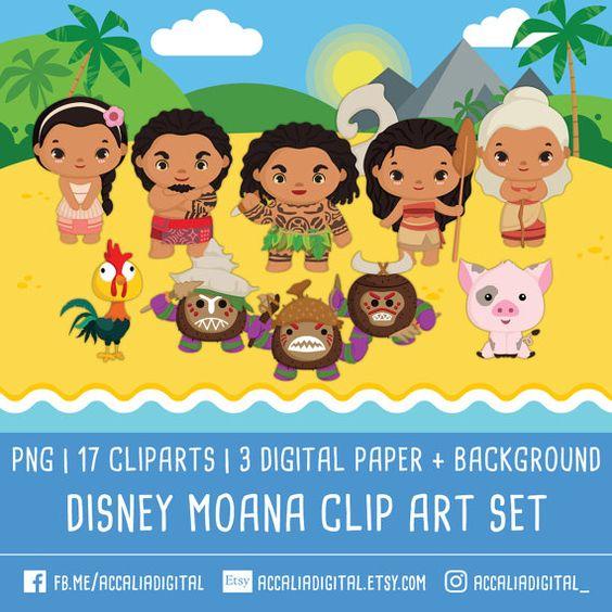 30% Disney moana clipart princess moana cli art by accaliadigital.