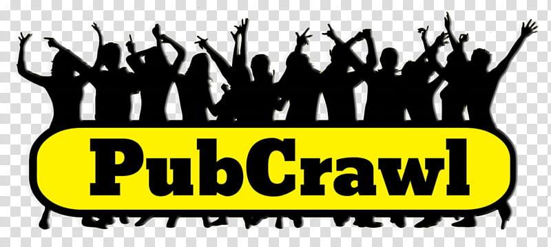 Group Of People, Pub Crawl, Bar, Hotel, Nightlife, Party.