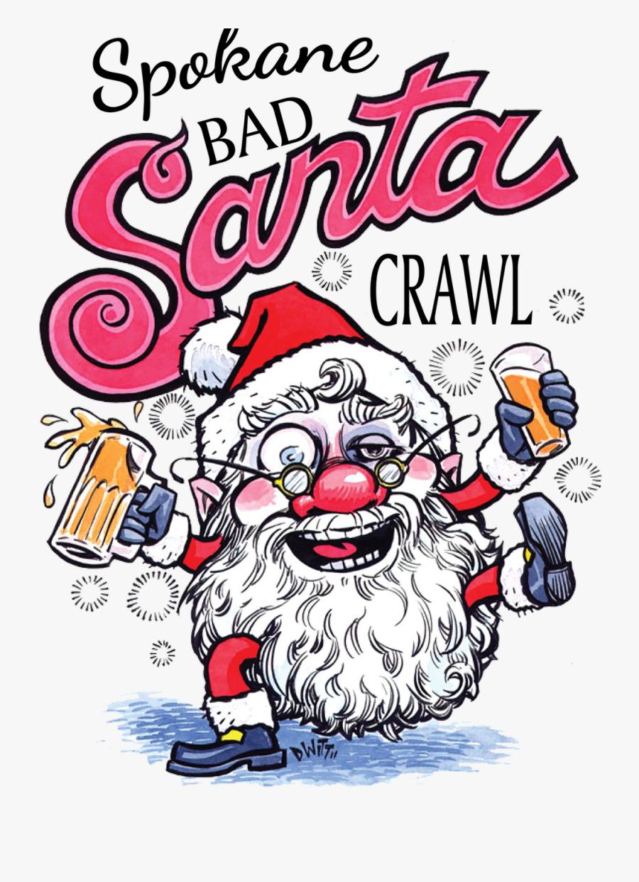 Santa Pub Crawl Logo , Free Transparent Clipart.
