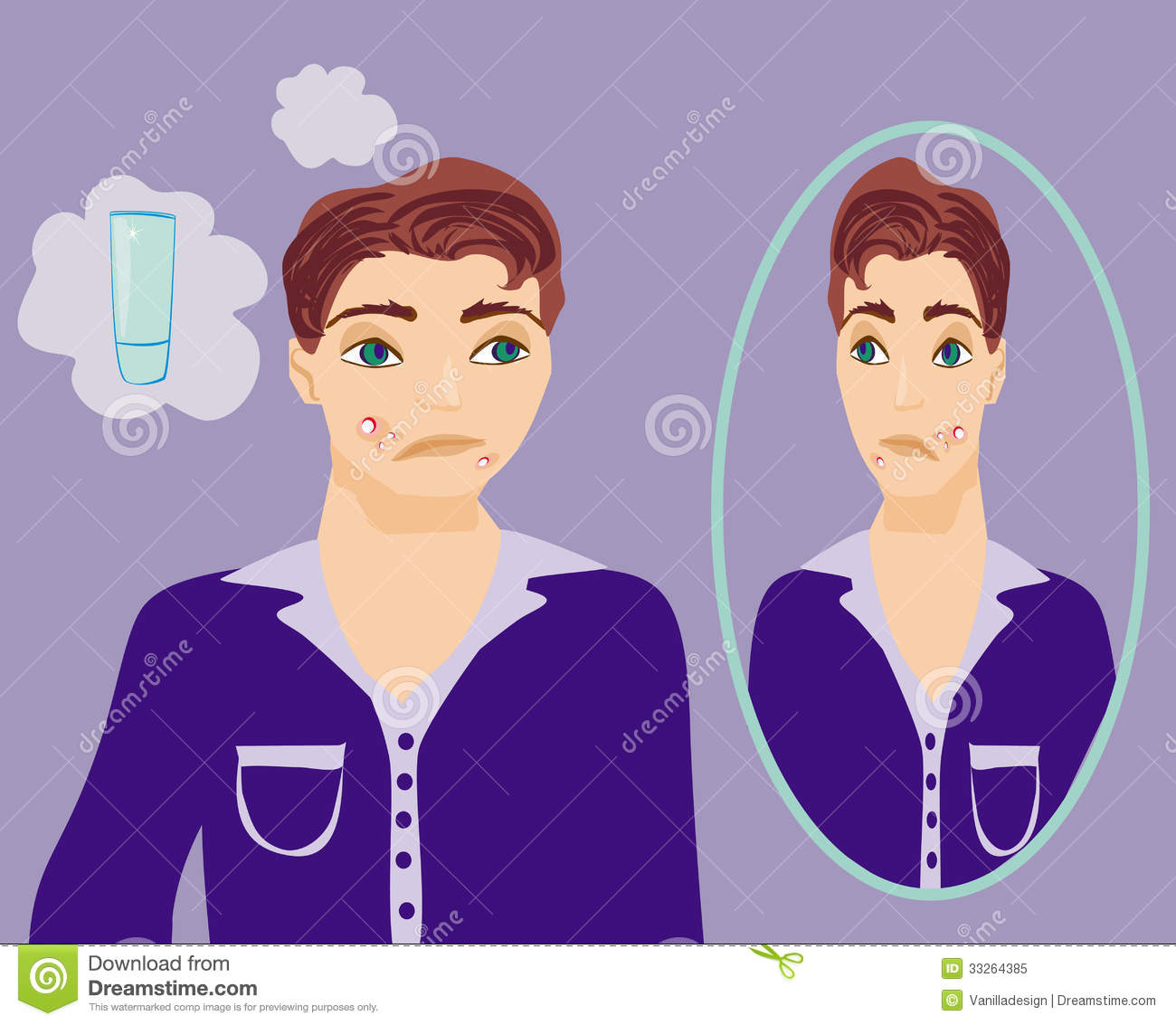 Male Puberty Clipart.