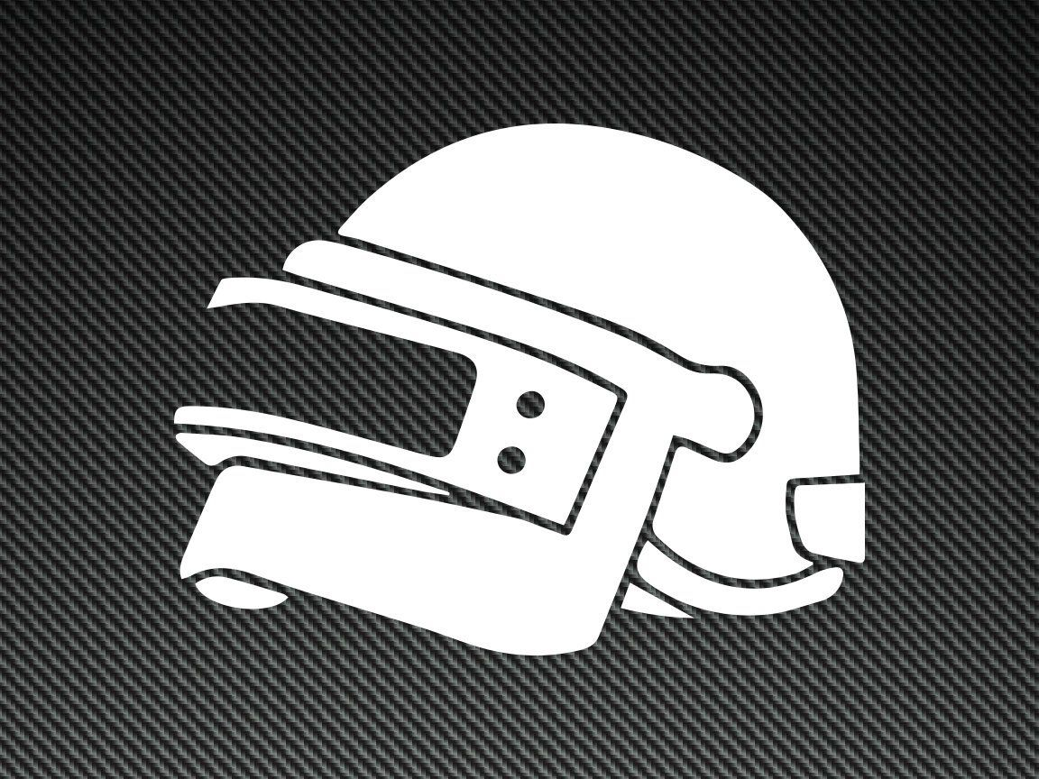 PUBG Helmet Vinyl Decal!! Perfect for your laptop, Yeti.