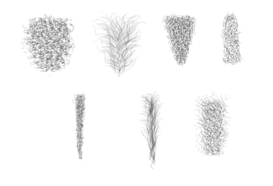 Pubic Hair Sheet for artists _ 7 unique Shapes FO4 Mod download.