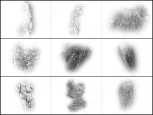 Hair png photoshop brushes download (32 photoshop brushes.