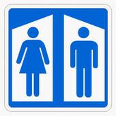 Restroom signs clip art.