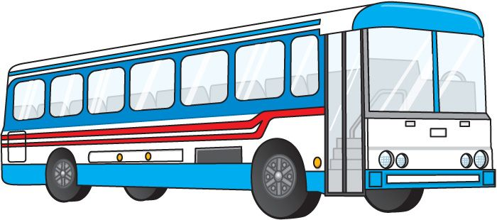 City Bus Transportation Clipart.