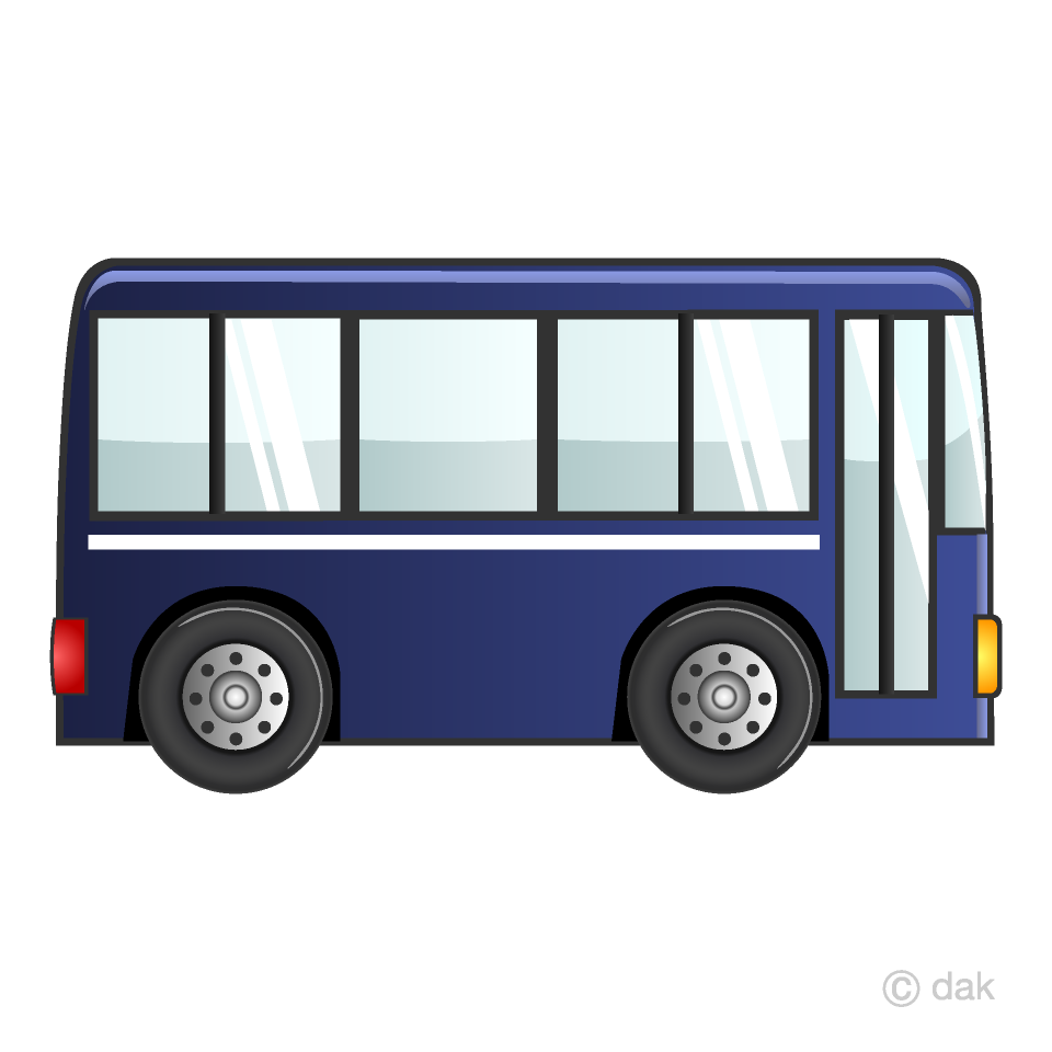 Blue Bus Clipart Free Picture|Illustoon.