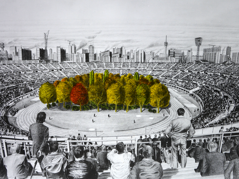 Curator Will Plant 299 Trees in a Stadium to Make Statement.