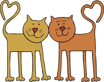 Free valentine cat clipart 1 page of public domain clip art.