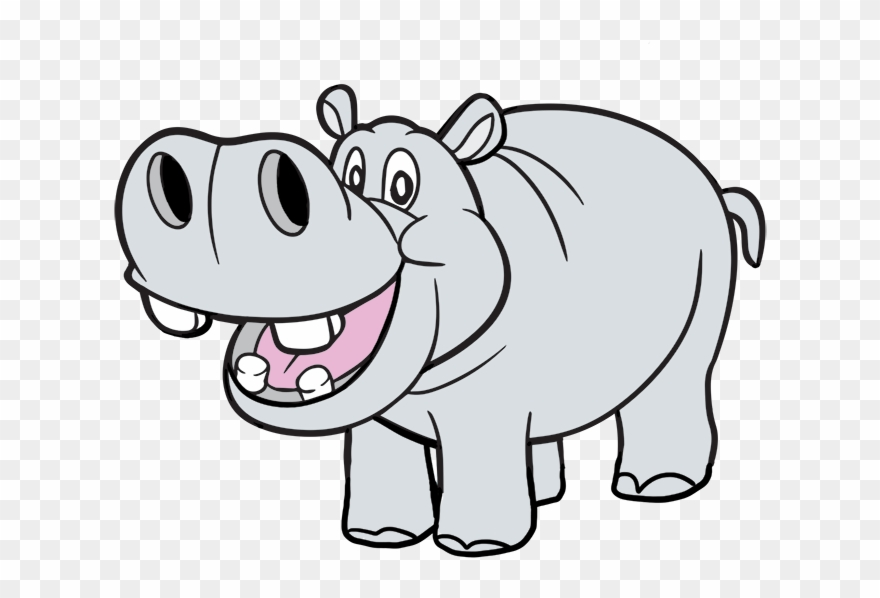 Free To Use Public Domain Hippopotamus Clip Art.