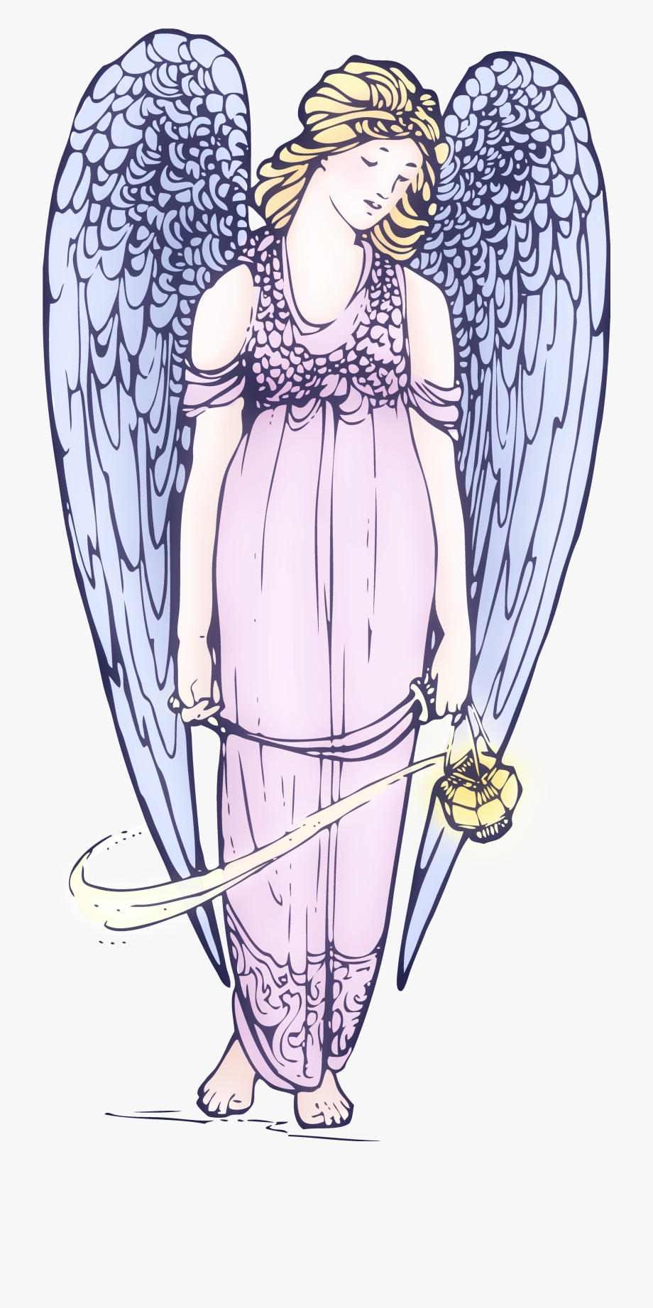 Lovely Angel Free Clip Art Vintage.