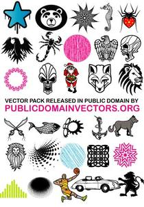 1128 vector clipart collection pack.