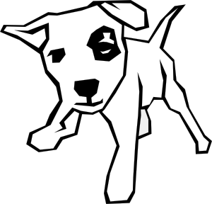 Dog Simple Drawing clip art.