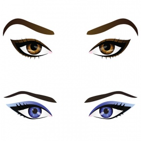Public Domain Eye Liner Clipart.
