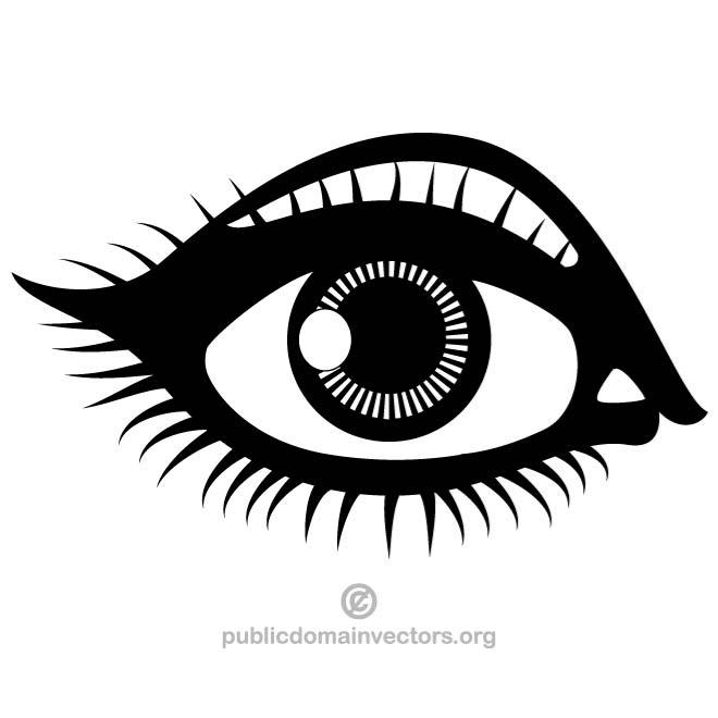 Public Domain Eye Clipart.