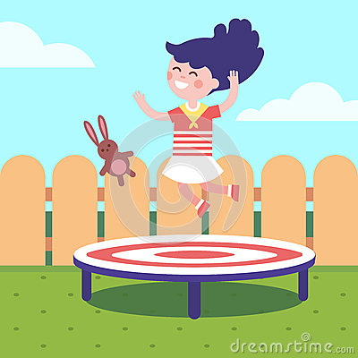 Jumping Girl Clipart Royalty Free Stock Photography.