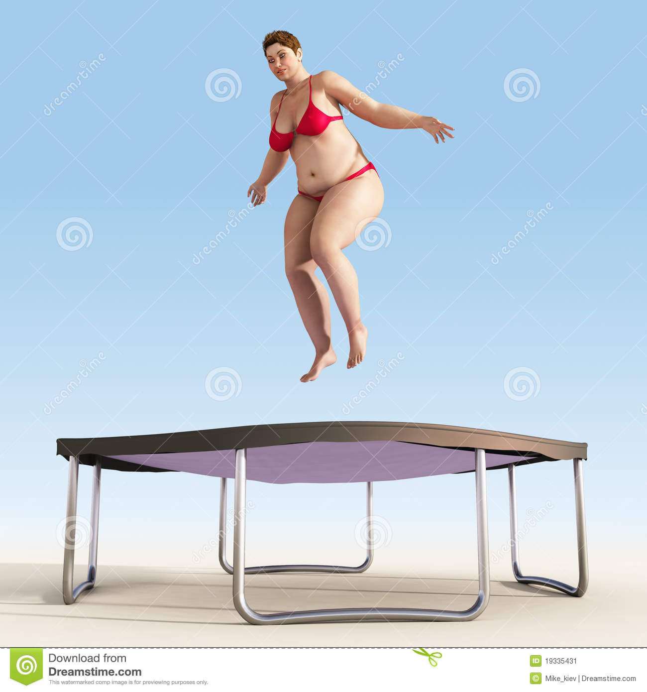 Woman Bikini Trampoline Stock Photos, Images, & Pictures.