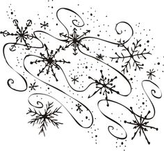 Snowflake on snowflakes public domain and clip art.