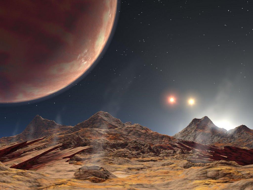 Space the Final Frontier, Alien Planet Public Domain Clip Art.
