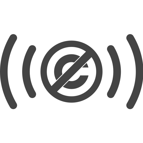 Public domain audio vector clip art.