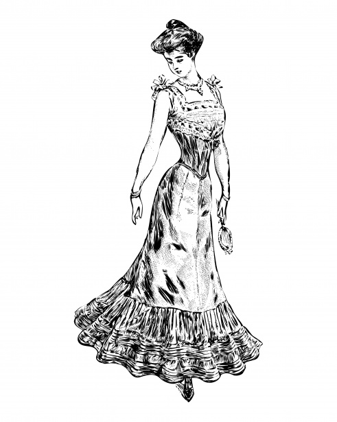 Victorian Woman Clipart Free Stock Photo.