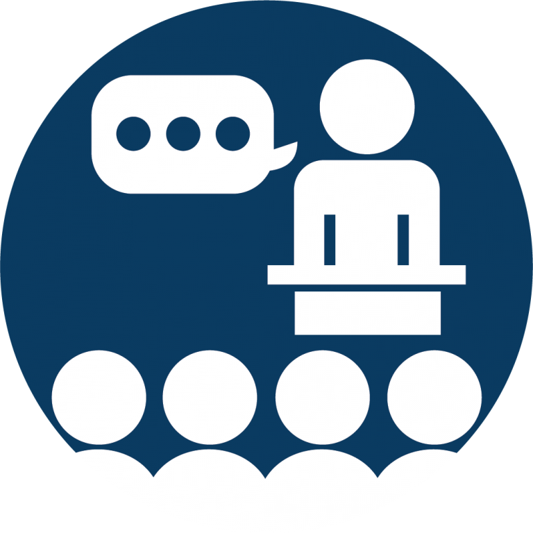 General Awareness Icon That Features A Person Speaking.