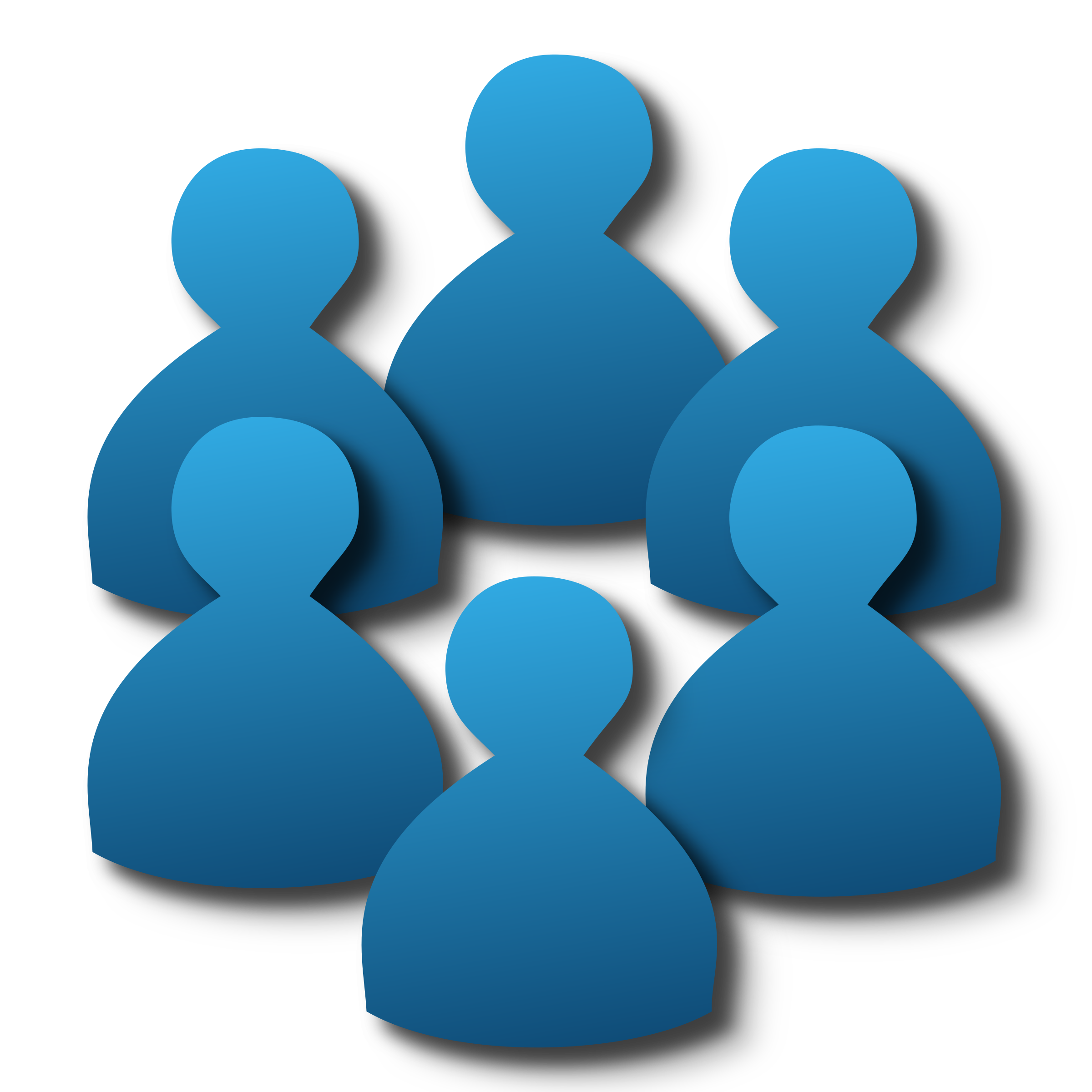 Group of members users icon image.