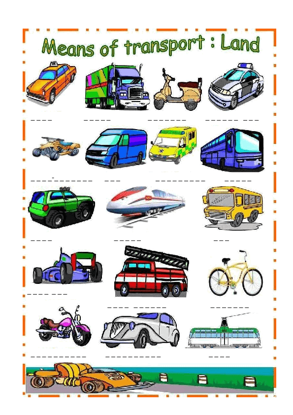 138 FREE Transport Worksheets.