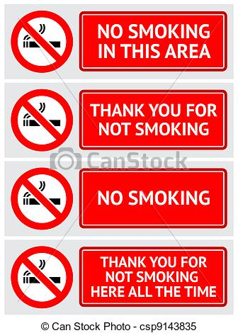Clipart Vector of Labels set No smoking stickers. Vector design.