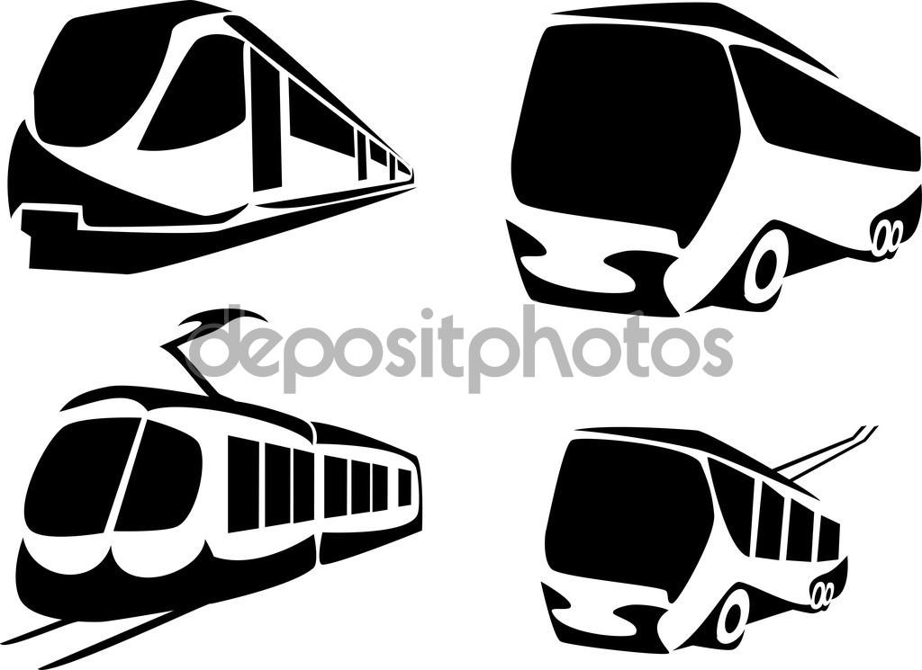 Öffentlichen Personennahverkehr — Stockvektor © bokononist #86829394.