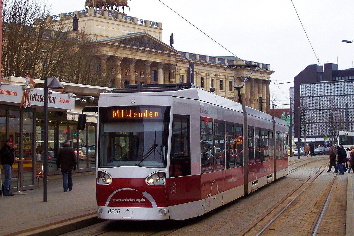 Trams in Braunschweig.