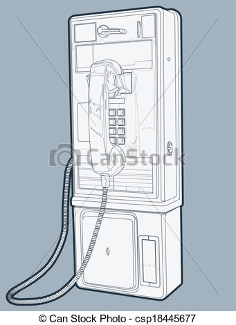 Vectors Illustration of Public Pay Phone.