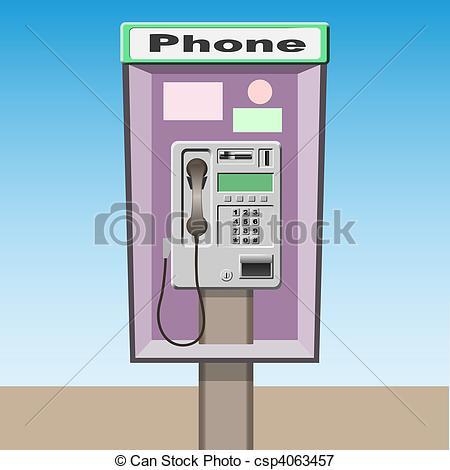 Public phone clipart.