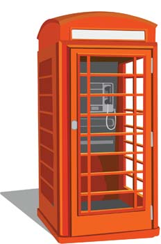 UK Public Phone vector, free vector images.