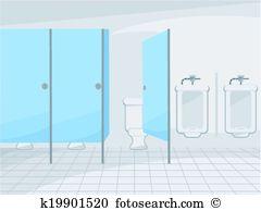 Public Restroom Clip Art Vector Graphics 2107