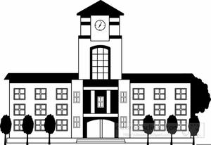 High School Buildings Clipart.