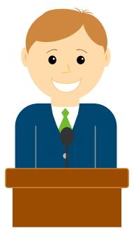 Public speaker clipart.