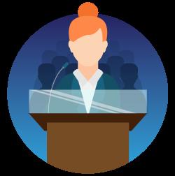 Public Speaker Icon #33200.