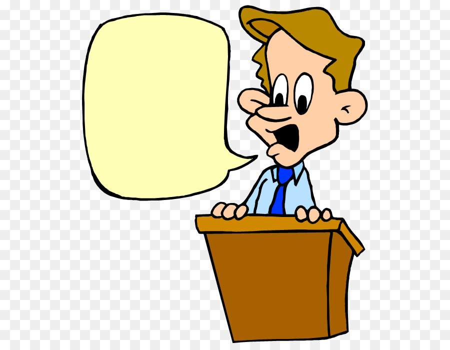 Public Speaking Yellow png download.