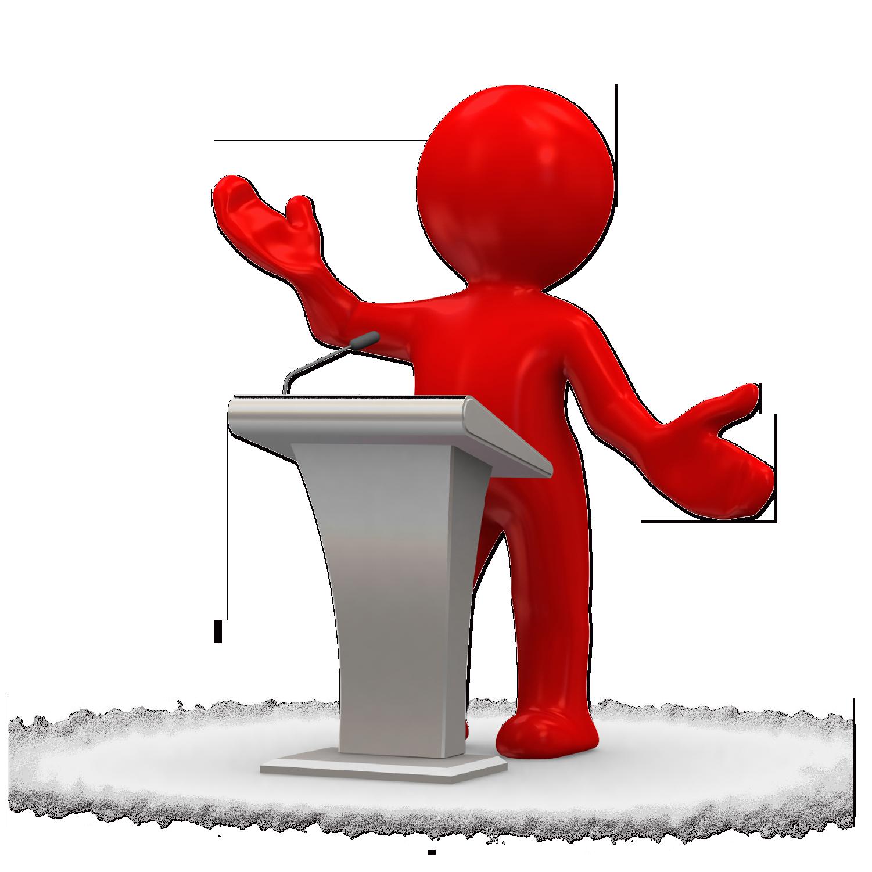 Public speaking Speech Clip art.